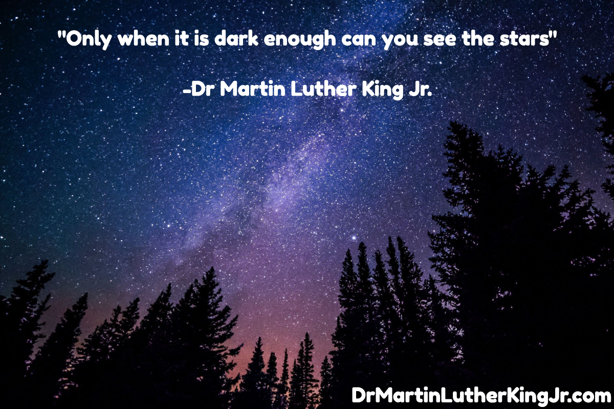 Only when it is dark enough can you see the stars Quote